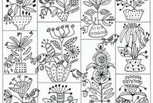 Embroidery block of month