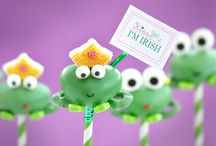 Kiss Me I'm Irish / Frog Cake pops for St. Patrick's Day or just for fun!    Blog Instructions: http://www.mylittlecakepop.com/blogs/ideas/12747073-kiss-me-im-irish  with downloadeable tag pdf file.