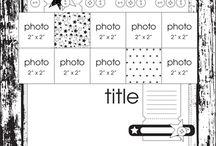 Scrapbooking Sketch 5photos + / by Louve Bleue