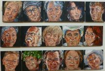 50 Faces Project / portraits in oil