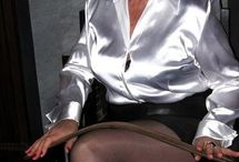 mature satin blouse