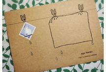 クラフト 切手