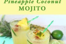 Healthy refreshing summer drinks