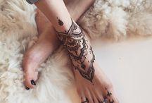 kotník - tetování