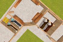 Sattelkammer Komplettlösungen / Basis ist hierbei immer die Sattel- und Futterkammer. Dort befindet sich Ihr Lager. Ein hinterer Zugang zu den Fressständen ermöglicht Ihnen die Pferdefütterung. Der Putzplatz beinhaltet einen sehr stabilen Anbindebalken. Hinter diesem befinden sich Ihre Putzutensilien sowie die Sattelhalter. Alles liegt in greifbarer Nähe und das Beste: Alles findet unter einem Dach statt, so dass Ihnen das Wetter vollkommen egal sein kann. So kann sogar die Arbeit Spaß machen!