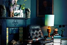 Colour me happy / Colour in interior decorating. How to use bright pops of colour, or dark moody colour, or intense glorious colour to light up a home