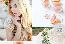 romantic peach wedding