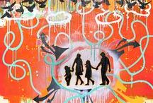 Daniel Tacker Pop Art 2013 / Handmade art pieces made by Daniel Tacker.  Memphis area- artist.  Mixed media abstract art is on canvas or wood.  / by Daniel Tacker Originals
