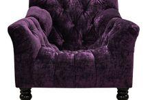 Black&Purple decor / interior decorations with black&Purple