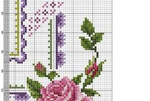cross stitch rose A