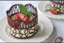 chocolate lace cups