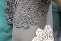 paint with doilies