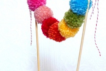 Cake Buntings - my favorite cake topping trend! / Looking for an easy, inexpensive and fun way to decorate that cake?  Love this tread!  Easy to make - or fun to purchase!  Great for any occasion - birthday, baby or bridal shower, holiday - any celebration!  For an instant party - just call Party Jumpers to add a fun inflatable! (941) 343-0370 www.partyjumpersinc.com