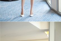 一般女性のタイトスカート