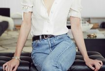 Blue Denim - White Shirt