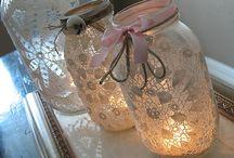Being crafty with mason jars / by Joann McMonagle