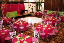 Pink and green weddings