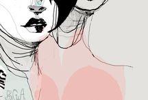 Fashion illustration, mood boards, sketchbooking