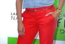 deep red pant
