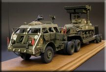 Military machine model kits