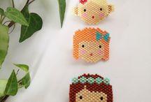 perles brick stitch