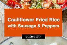 Cauliflower n sausage  fried rice