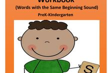 Kindergarten RTI: Beginning Sounds / Kindergarten RTI: Beginning Sounds. Make word work FUN with this picture word beginning sounds packet for the year!!  Get a head start by helping kids develop their early phonics skills by learning their beginning sounds. Your pre-reader will say words with the same beginning sound and write those words in this early literacy beginning sounds packet. Great for preschool, kindergarten, special education, and homeschooling students!