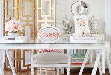 Home Office | Working in Style / Dream office style and design for the modern working girl. / by Carmen @ The Decorating Diva, LLC