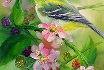 Kuşlar suluboya