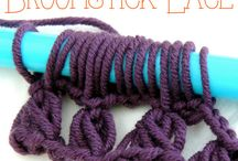 Crochet broomstick lace