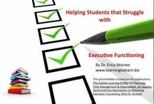 ADHD and Executive Functioning Strategies / This Pinterest board on ADHD and Executive Functioning offers blogs and articles on attentional problems as well as planning, time management and organization.  It also presents cognitive remedial tools, strategies for success, and it also presents assistance with working memory, emotional regulation, metacognitive skills, emotional intelligence and more.