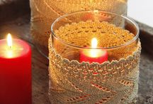 knitting candle holders