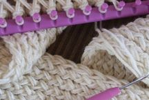 loom kniting.