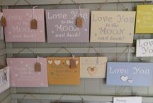 a selection of new plaques In-store today / all handmade wall plaques and finished with Annie Sloan paint or decoupaged