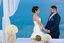 A travel themed destination wedding