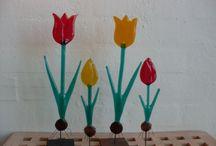 Glas blomster