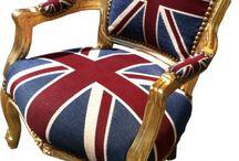 Union Jack / Fühlen Sie sich wie in einem englischen Königshaus mit den Barockstil Möbeln der Union Jack Kollektion von Casa Padrino.