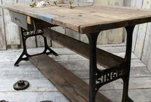 Recycled Sewing machine furniture