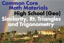 CCHS (Geo): Similarity, Right Triangles and Trigonometry / Common Core High School (Geometry): Similarity, Right Triangles and Trigonometry. Great teaching resources that help students: 1) Understand similarity in terms of similarity transformations. 2) Prove theorems involving similarity. 3) Define trigonometric ratios and solve problems involving right triangles. 4) Apply trigonometry to general triangles.