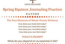 Journaling / Journaling is a very powerful tool to hone your self-awareness. I've even designed a guided journaling practice to help bring you home to yourself: http://bit.ly/SBjournaling