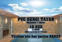 PVC GERGİ TAVAN / PVC GERGİ TAVAN
