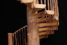 log staircases