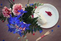 Décoration champêtre & bucolique / Inspiration pour décoration de table fleurie