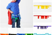 Superfly Kids Super Accessories! / At www.superflykids.com, not only do we make super hero capes, we make all the SUPER accessories to go with it! Utility belts, masks, blaster cuffs you name it!  / by Superfly Kids