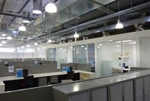 PARTITIONING & CEILINGS / range of suspended or plaster-ceiling options can be introduced throughout the office as continuous or combined, increasing the level of acoustics.