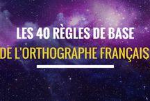 Les 40 règles de base de l orthographe