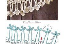 franges crochet pour écharpes