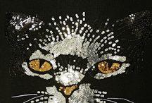 gersey con gato de lentejuelas