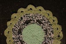 Alfombra / Tejido de Totora en crochet
