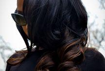 dark hair tips